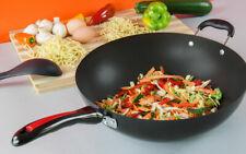 NON STICK WOK SAUCEPAN POT FRY STIR FRYING PAN COOKWARE COOKING 28CM UK Seller