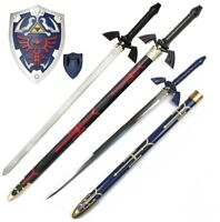 Legend of Zelda Link's Master sword and shield set Real Steel Breath of the wind