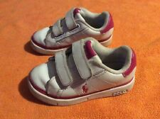 Kids girls polo Ralph Lauren trainers shoes size 7 infant
