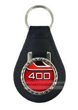 YAMAHA RD 400 RED  MOTORCYCLE  leather  keyring keychain keyfob
