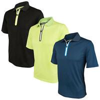 Benross Mens Pro Shell Zip Polo Shirt Small - Golf Tech Peformance Top T-Shirt