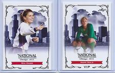 MIA HAMM & HOPE SOLO 2013 LEAF EXCLUSIVE COLLECTORS CONVENTION SOCCER CARD LOT!