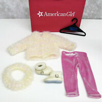 American Girl Pleasant Company SNOWBALL SWEATER & LEGGINGS OUTFIT Boots Headband