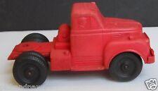Vintage Auburn Rubber Co. Vulcanized Rubber Red Semi Truck Cab USA