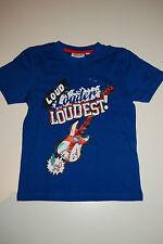KIDS & FRIENDS | Neu | T-Shirt | Kurzarmshirt Shirt BLAU | m. Print | 116 122 |