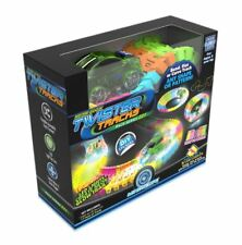 Mindscope Twister Tracks Neon Glow Race Car 221 PC Includes 11ft Flexible Track