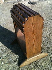 New Handmade Oak Saddle Stand Rack W/tray with Finish