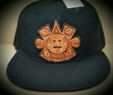 CUSTOM AZTEC SUN GOD  CHICANO LOWRIDER  MEN SNAPBACK HAT BLACK
