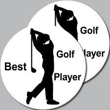 2 Pegatina 10cm Pegatinas Mejor Golf Player Golf Fan Freund Jugador de Golf Golf