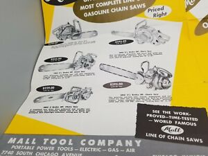 1955 Mall Chain Saws Brochures & Foldout Poster