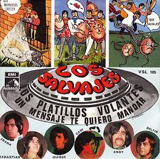"""7"""" los SALVAJES los platillos volantes un mensaje 45 SPAIN 1968 PSYCH FREAKBEAT"""