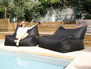 USTIME Indoor / Outdoor - Standard Fabric Water Resistant Beanbag Chair Cover