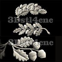 3 3D STL Models Flower Decor for CNC Router Carving Machine Artcam aspire Cut3D