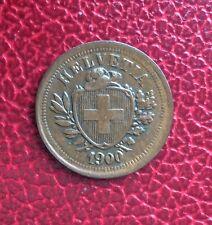Suisse - Rare et Superbe  monnaie de  1 Rappen 1900  B - millésime rare