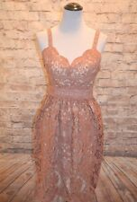 Modcloth Schenley Park Poetry Lace Dress NWT M Earthy Rose crochet lace dress