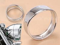 "Bikers Choice 5.75"" Headlight Trim Ring Chrome For Harley XL883 XL1200 Dyna FXLR"