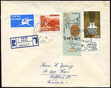 Israel 1975 Registered Cover To Austria #C22450