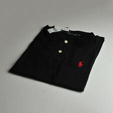 Men's Ralph Lauren Polo Black T-Shirt Red Pony Custom Fit Size Small