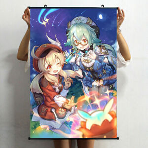 Anime Poster Genshin Impact Sucrose Klee Wall Scroll Art Home Decor Collection