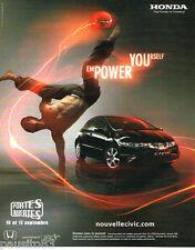 PUBLICITE ADVERTISING 085  2006  HONDA la noouvelle CIVIC  2.2