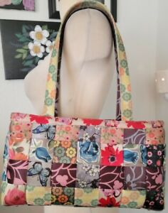 Harveys Seatbelt Bag purse satchel Floral patchwork limited edition 2010