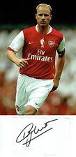 Dennis Bergkamp Signed 4x6 Card & Arsenal 8x12 Photograph AFTAL/UACC RD