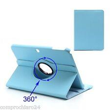 Custodia Pieghevole 360° Azzurra Ecopelle per Samsung Galaxy Tab 3 10.1 Cover