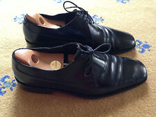 GUCCI MEN'S SHOES MADE IN ITALY BLACK LEATHER LACE UP UK 10 US 11 EU 44
