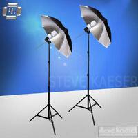 Continuous Fluorescent Bulbs Studio Video Light Kit