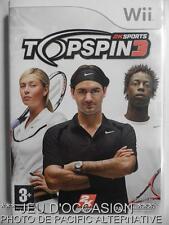 OCCASION: Jeu TOP SPIN 3 nintendo WII game francais tennis sport federer monfils
