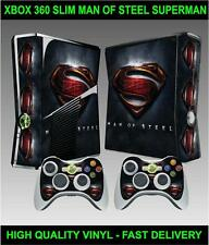 Console xbox 360 slim Autocollant Superman Man of Steel peau & 2 contrôleur skins