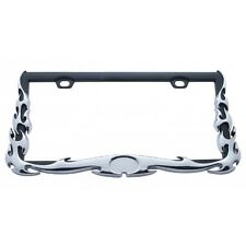 Chrome Metal Flame Car Truck License Plate Tag Frame Holder / Peterbilt Kenworth