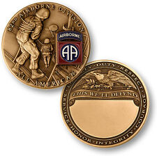 NEW U.S. Army 82nd Airborne Division All American Challenge Coin. 60543.