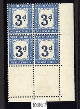Sud AFRICA 1942 3D INDIGO & Milky Blue invertiti wmk SG d28a MNH.