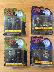 Lot Of 4 Monster Mez-Itz Figures (2) Both Series 1 Set - 2 Series 2 Same Set H13