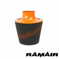 Ramair 90Mm Od Orange Aluminium Induction Foam Air Filter Universal