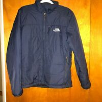 Men The North Face Navy Blue Jacket Coat Size Medium 100% Nylon Made