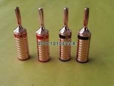 4Pc 05B Red Copper Plated Speaker Cable Banana Plug Terminal Connector