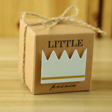 10 Little Prince Kraft Paper Baby Shower Favors Birthday Party Candy Boxes+Twine