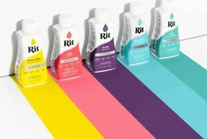 RIT All-Purpose Fabric Dye - Liquid (236ml) Choose from 41 Colours inc Fixative