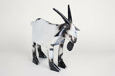 Recycled Metal-Goat-Mexican Folk Art-Colorful-Animal-Art-Sculpture-Farm-Small