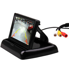 """Car Vehicle Color Rear View Foldable Monitor 4.3"""" Inch Dashboard Mount 2 AV In"""
