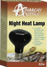 Night Heat Spot Lamp Bulb 60W Black Reptile Snake Lizard Frog Brooding E27 Screw
