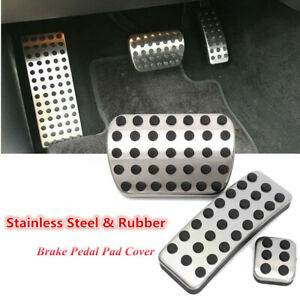 Stainless Foot Gas Brake Pedal Pads Covers For Mercedes Benz M GL R Class AMG