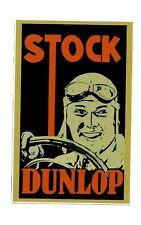"""STOCK DUNLOP"" ART DECO VINYL STICKER / DECAL MINI POSTER TYRES CAR VINTAGE"