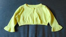 M&S 100%Cotton Knitted Long Sleeved Cardigan 3-6m 69cm Bright Yellow BNWT