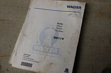 WACKER RD11V COMPACTOR ROLLER Parts Manual Book List catalog spare ride on shop