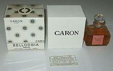 """Vintage Caron Bellodgia Perfume Bottle & Boxes 1 OZ Sealed - 3/4 Full - 2 1/2"""""""