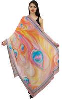 Pfau-Feder-Wrap lange Stola-Schal-Schal Sarong Frauen-Mehrfarben-40x72Inches