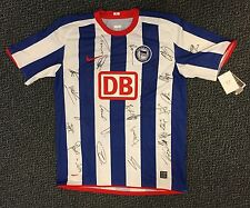 HERTHA BSC BERLIN SHORT SLEEVE TEAM IN PERSON SIGNED JERSEY - NEW WITH TAGS.
